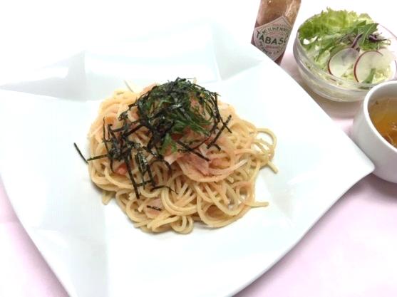 明太子パスタ(サラダ・スープ付)